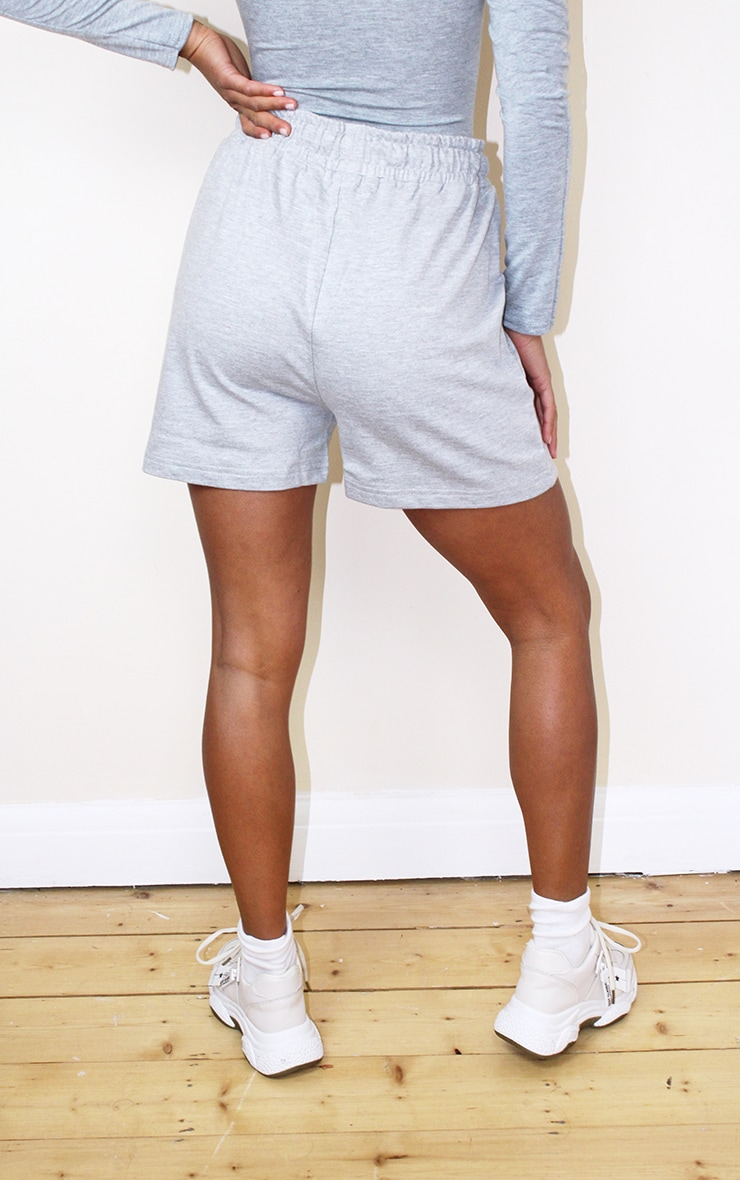 Petite Grey Frill Sweat Detail Short 3