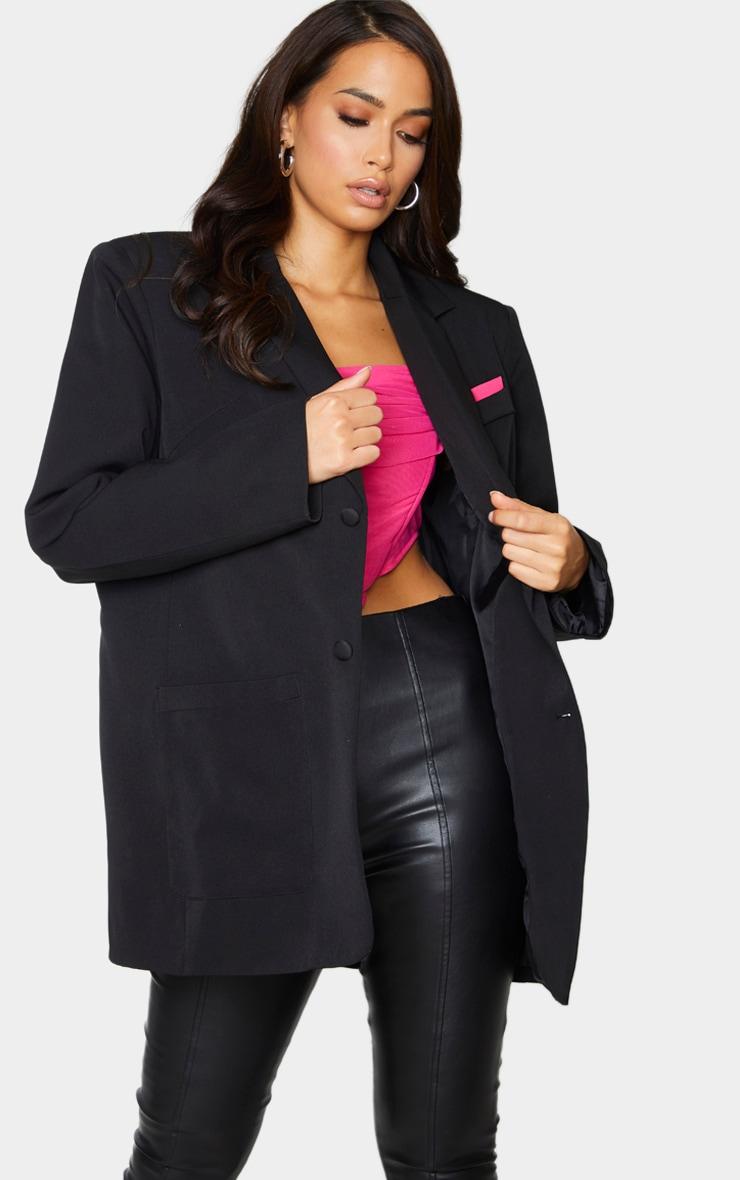 Black Extreme Oversized Blazer