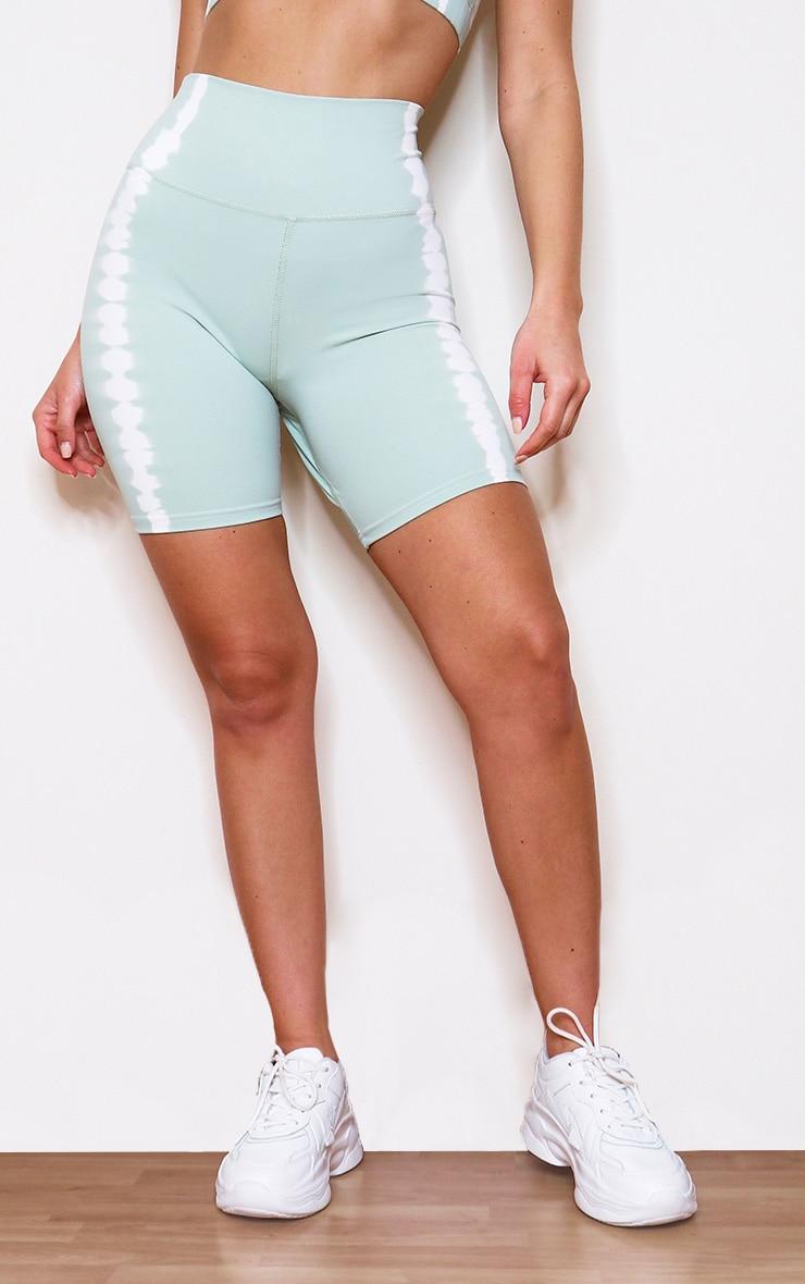 Mint Tie Dye Bike Shorts 2
