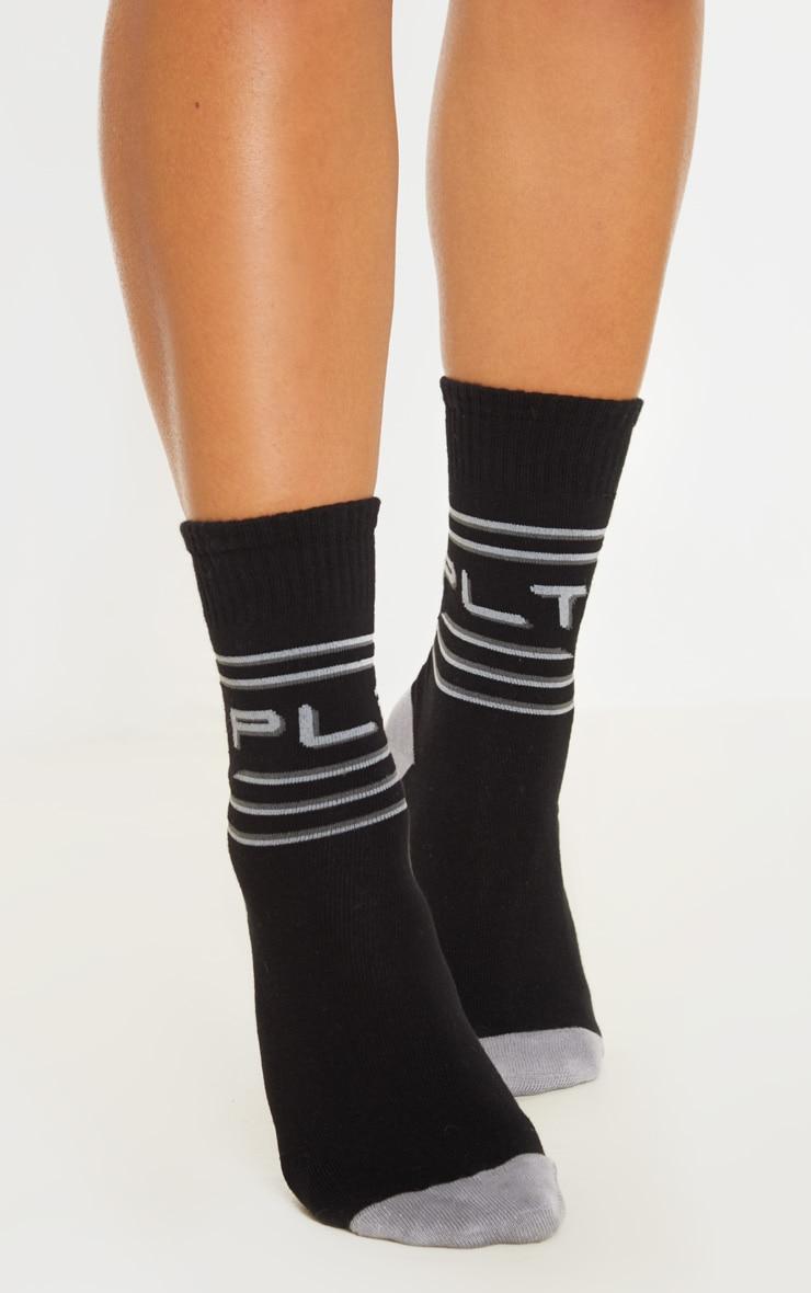PRETTYLITTLETHING Black And Grey Socks 1
