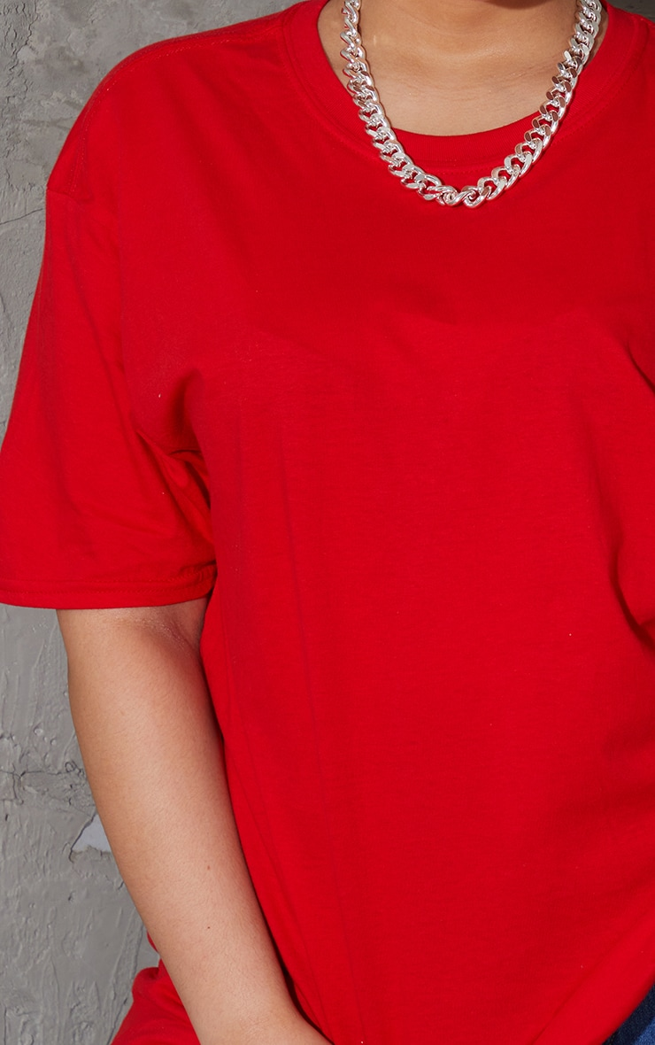 Plus Ultimate Red Oversized T Shirt 4