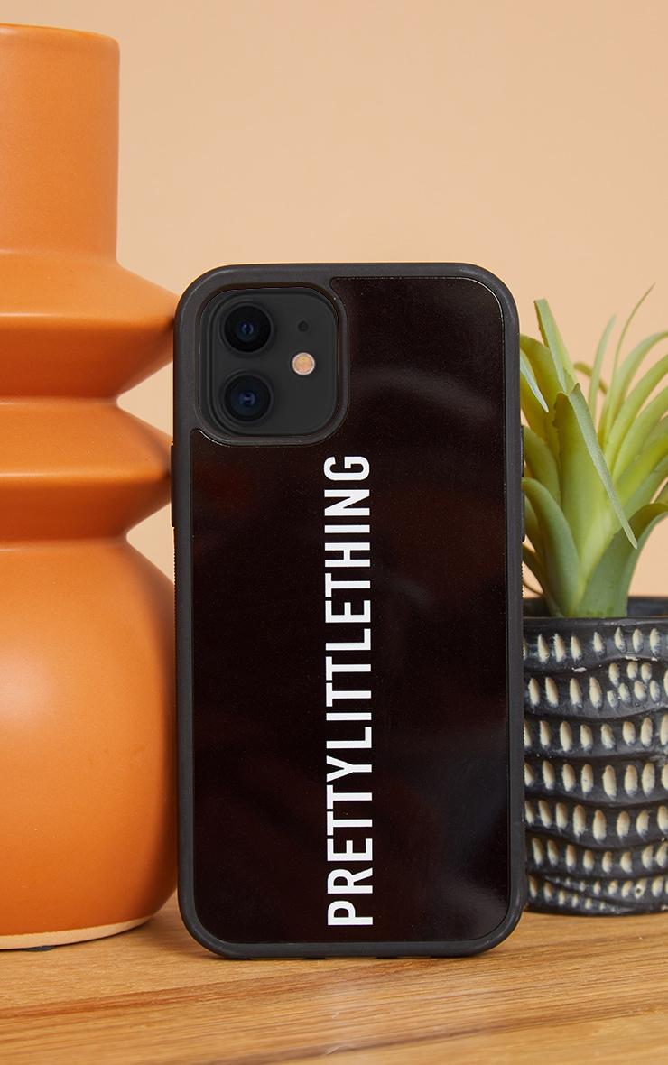 PRETTYLITTLETHING Black Logo iPhone 12 Pro Phone Case 1