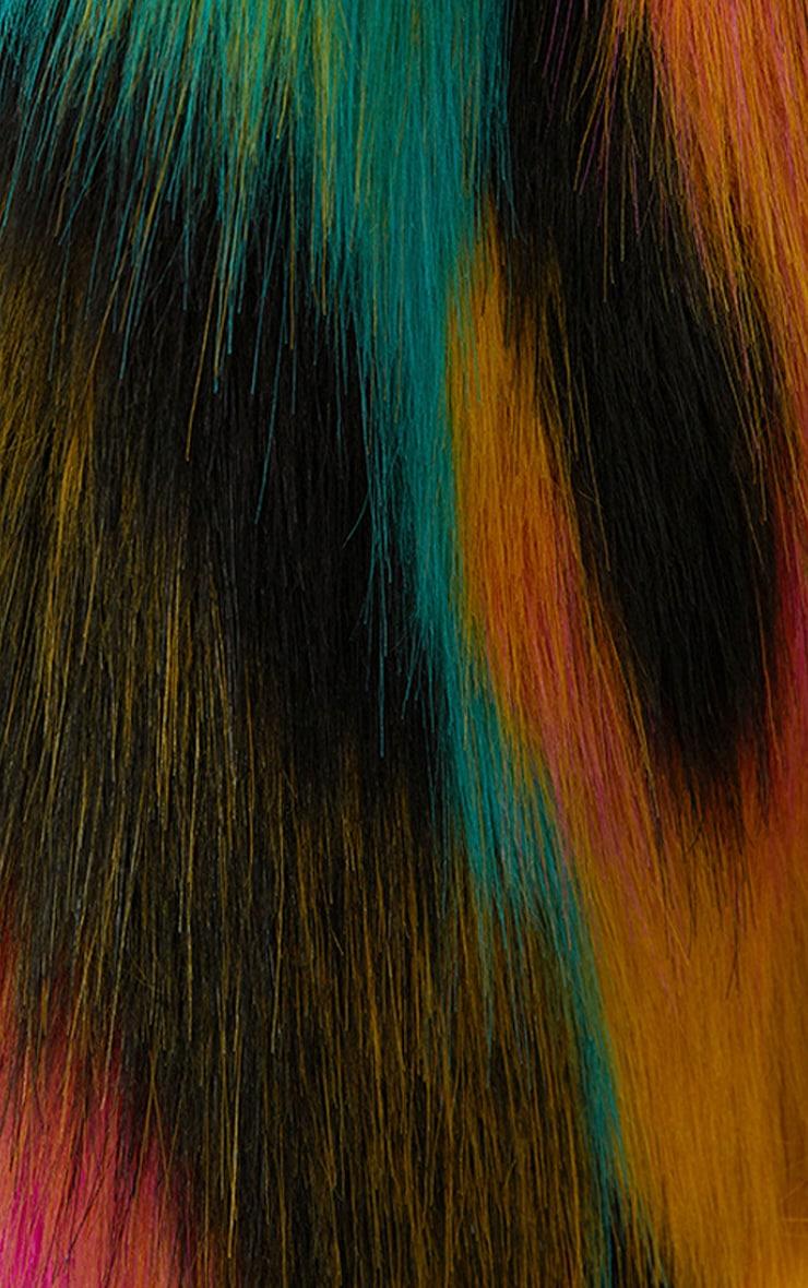 Multi Colour Faux Fur Scarf 2