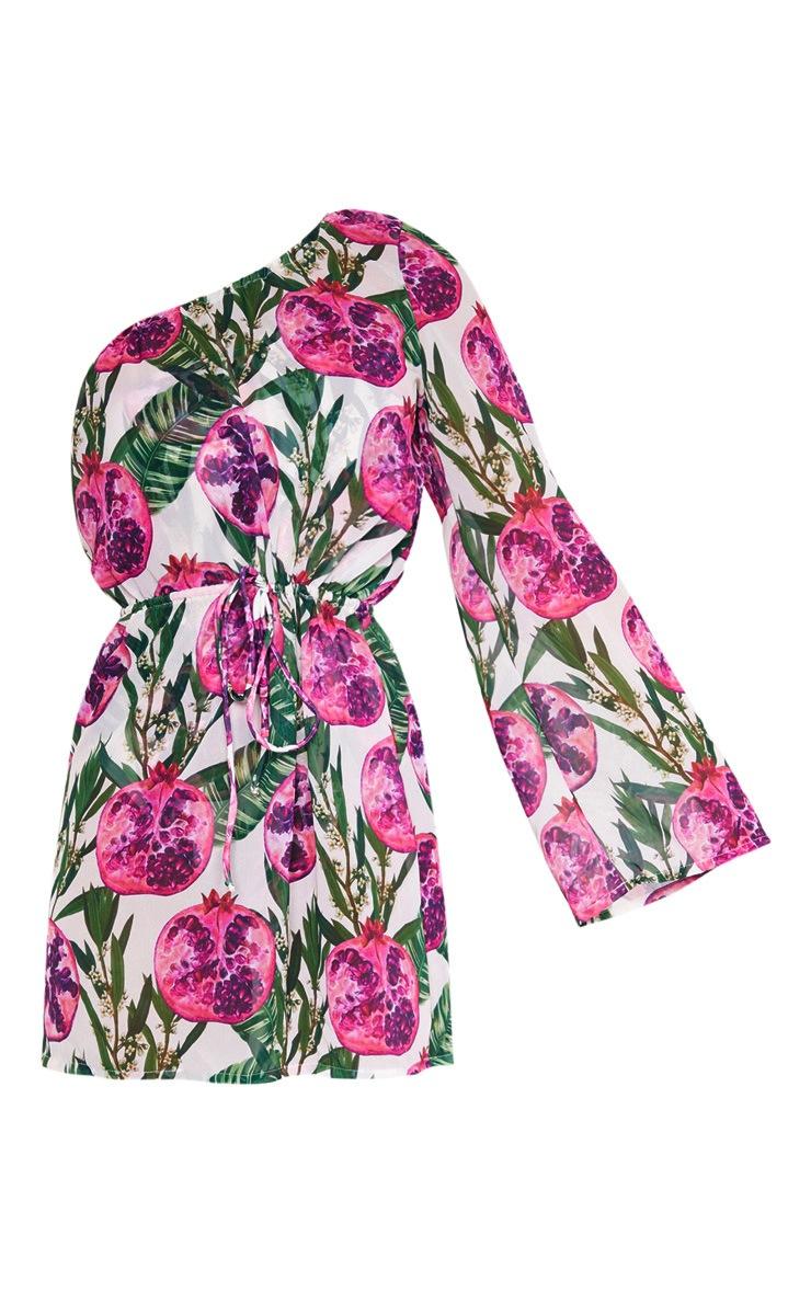Pink Pomegranate Drawstring Waist Dress 6