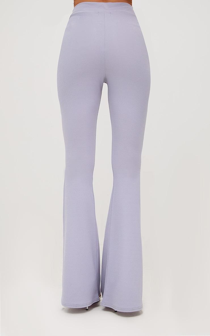 Lilac Grey Split Skinny Flared Trousers 4