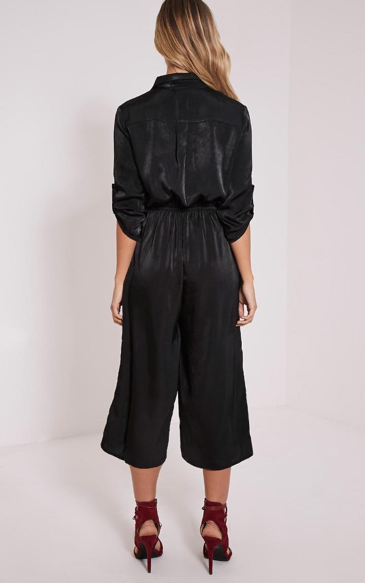 Katriana Black Culotte Jumpsuit 2