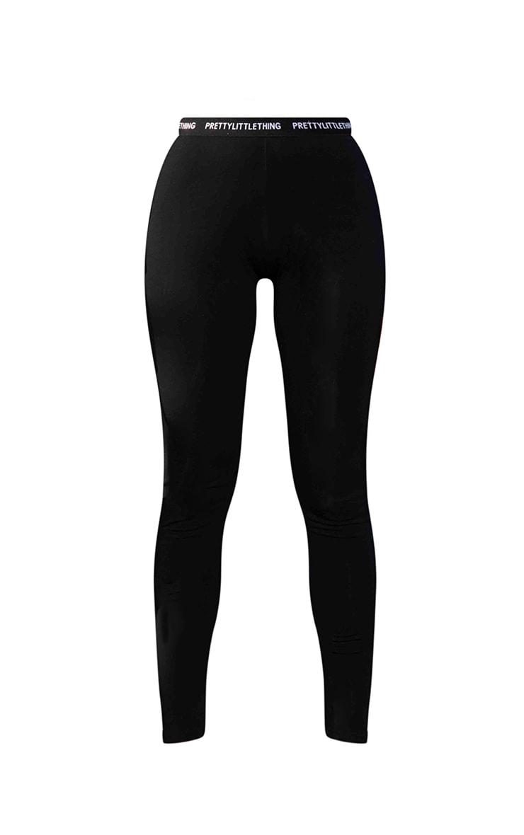 PRETTYLITTLETHING Petite - Legging noir à taille haute 5