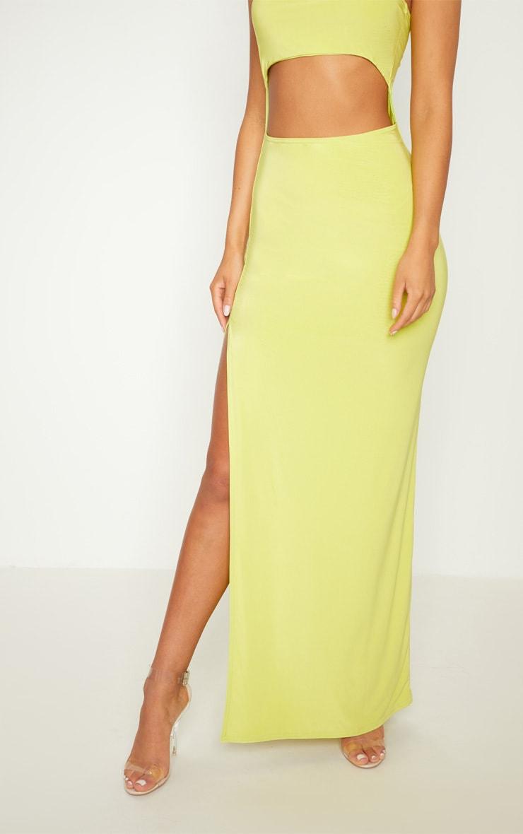 Lime Bandeau Cut Out Maxi Dress 5