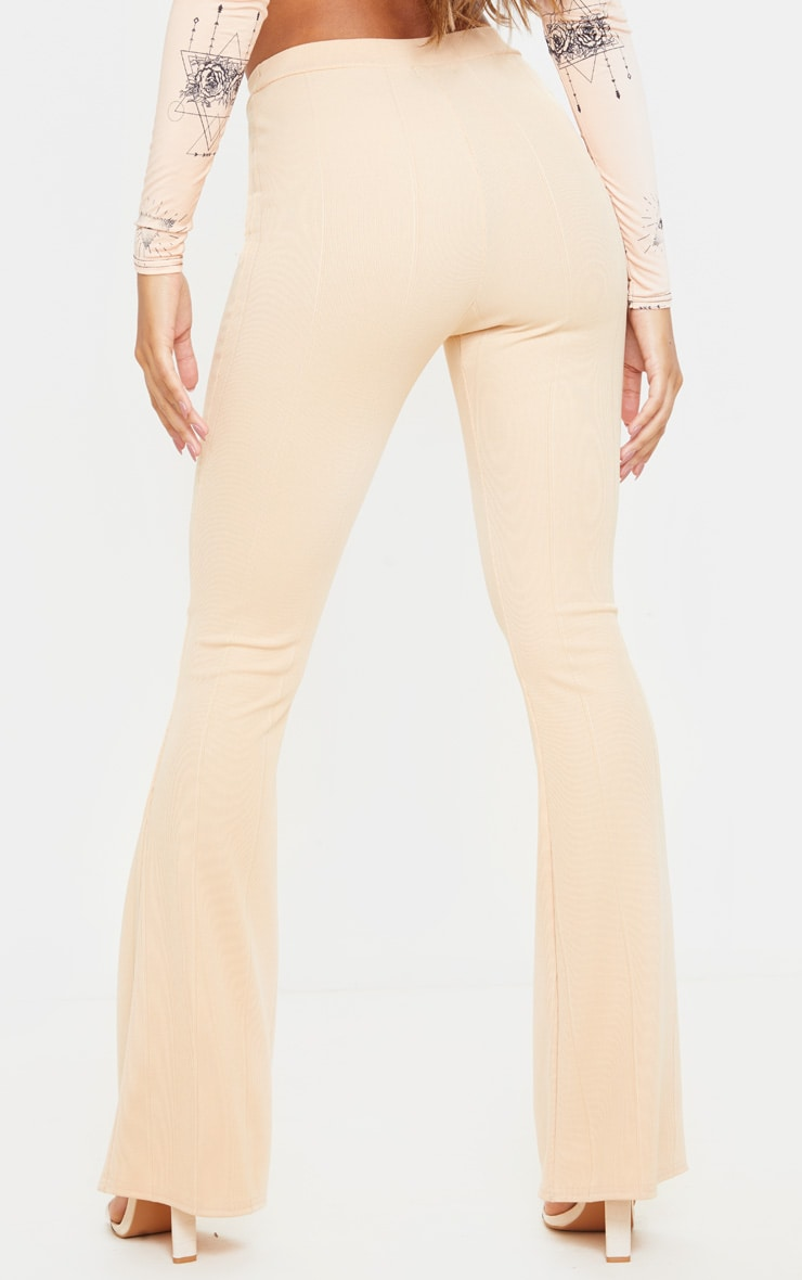 Fawn Bandage Flared Trouser 4