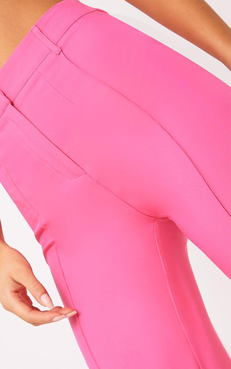 Anala Pink High Waisted Straight Leg Trousers 5