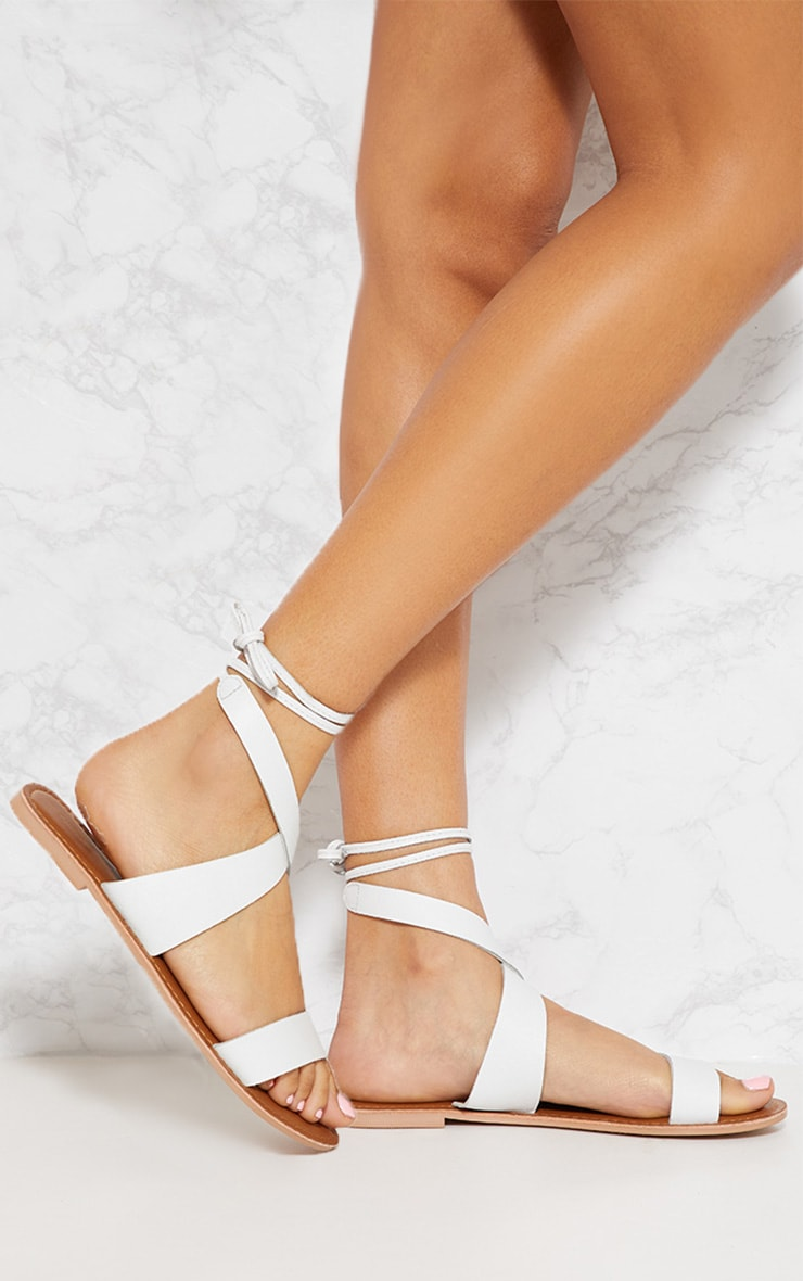 White Leather Basic Sandal