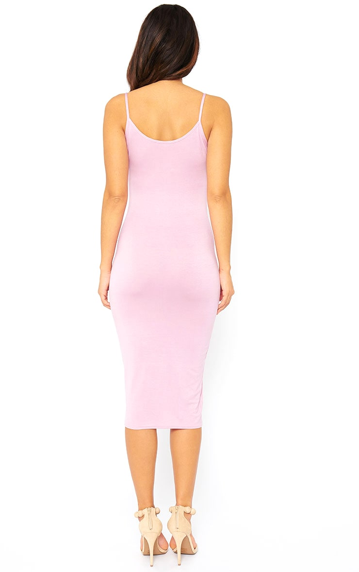 Basic Mauve Midi Vest Dress 2