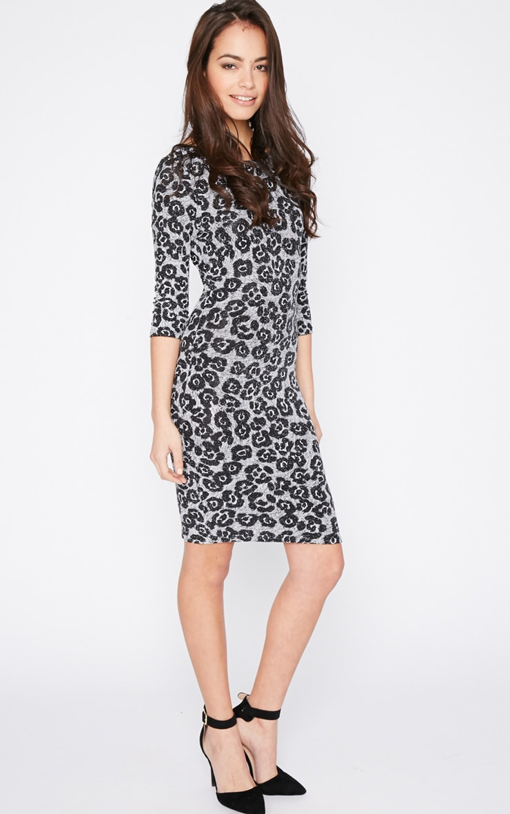 Dina Glitter Leopard Dress 1