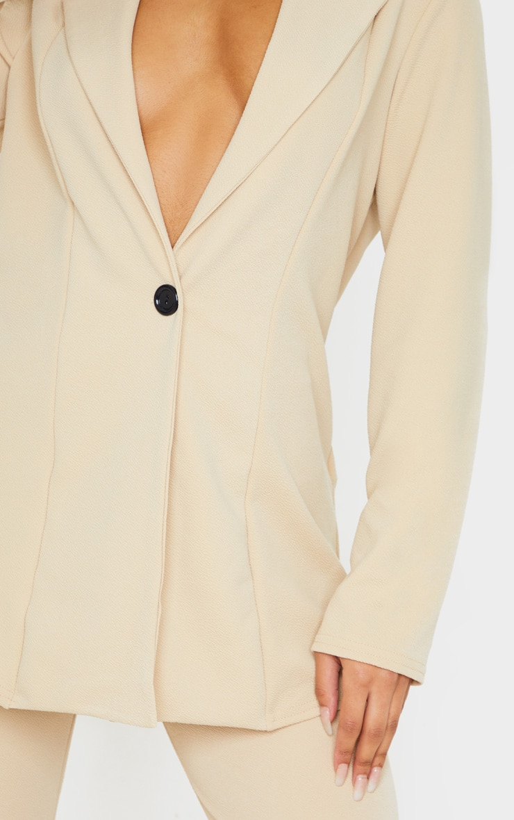 Stone Oversized Fitted Blazer 5