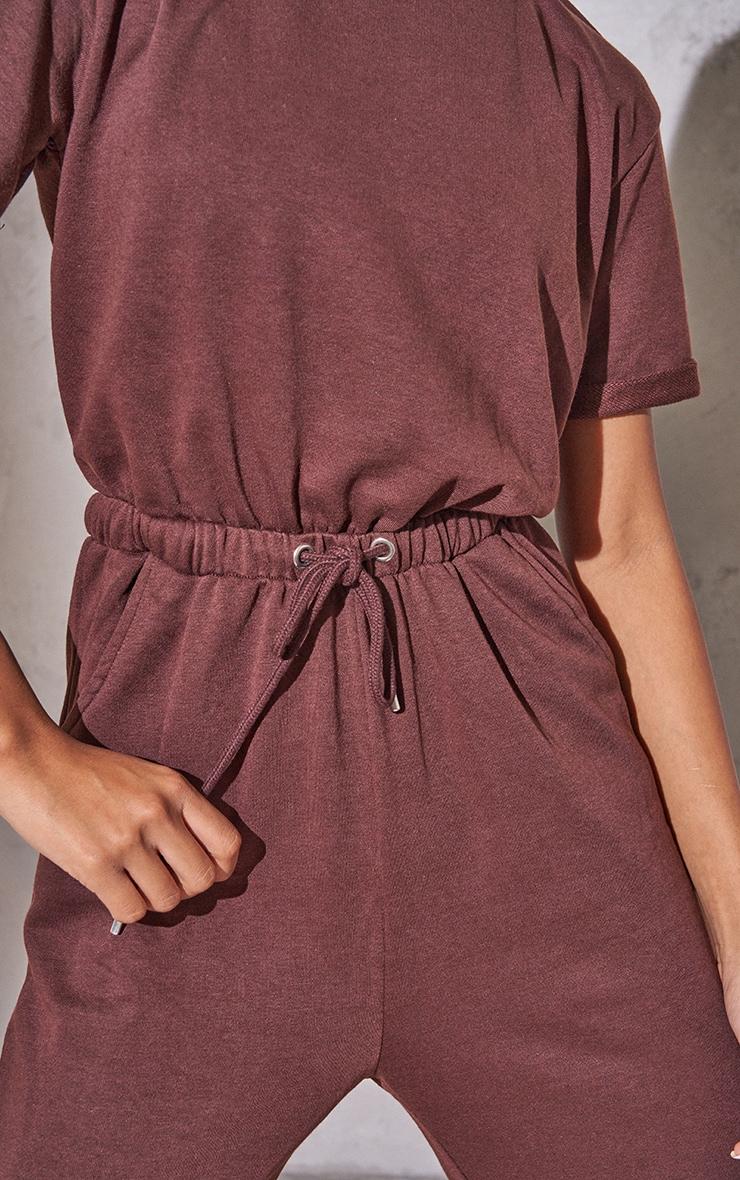 RENEW Chocolate Short Sleeve Sweat Jumpsuit 4