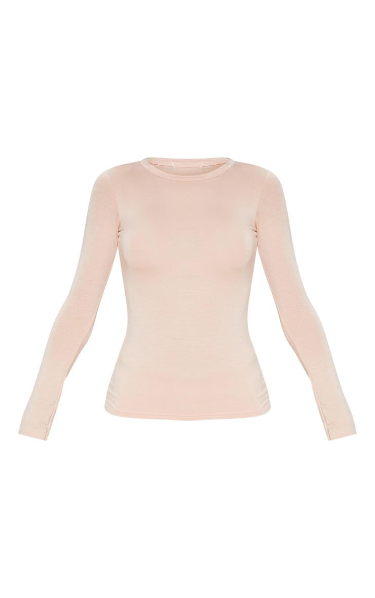 Nude Basic Longsleeve Fitted T Shirt  4