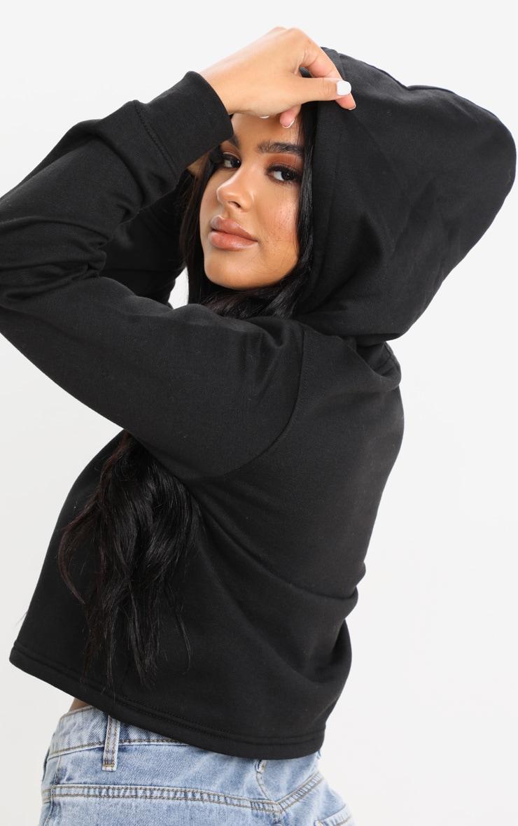 Petite Black Cropped Hoodie 5