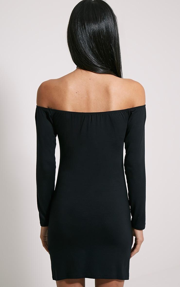 Carina Black Bardot Mini Dress 2