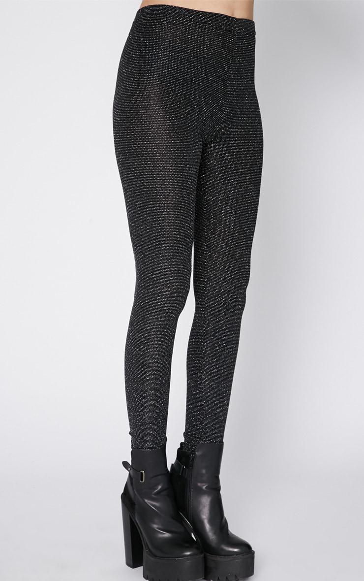 Juro Black Glitter Legging 3