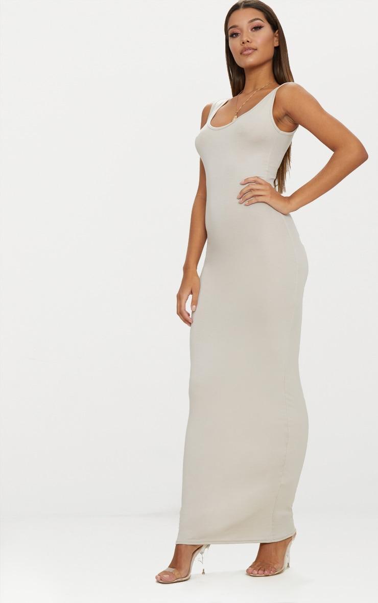 Stone Basic Scoop Neck Maxi Dress 3