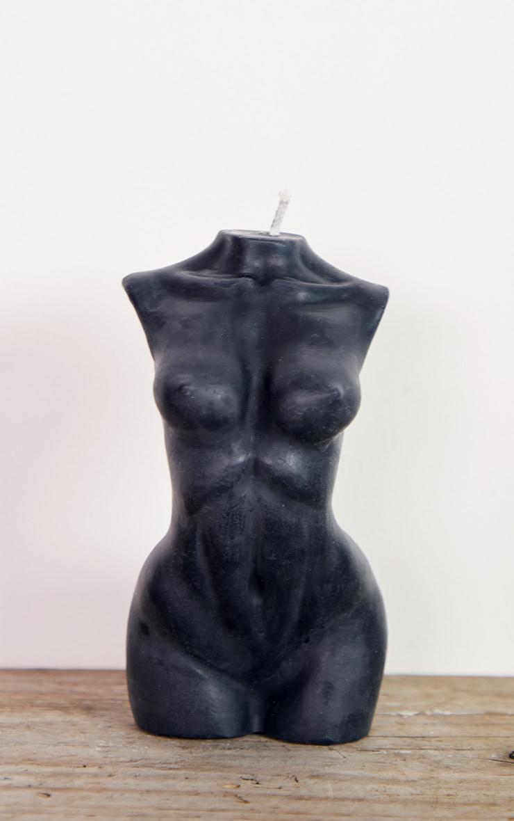 Black Large Female Body Candle 14cm 4