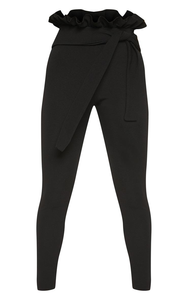 Petite Black Paperbag Skinny Trousers 3