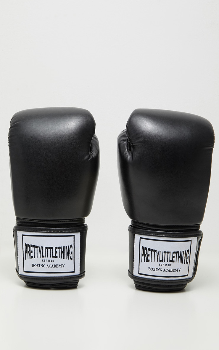 PRETTYLITTLETHING Black Boxing Gloves 4
