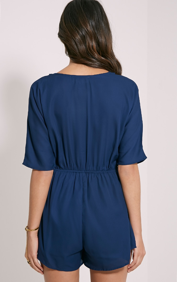 Bobby Navy Wrap Front Playsuit 2