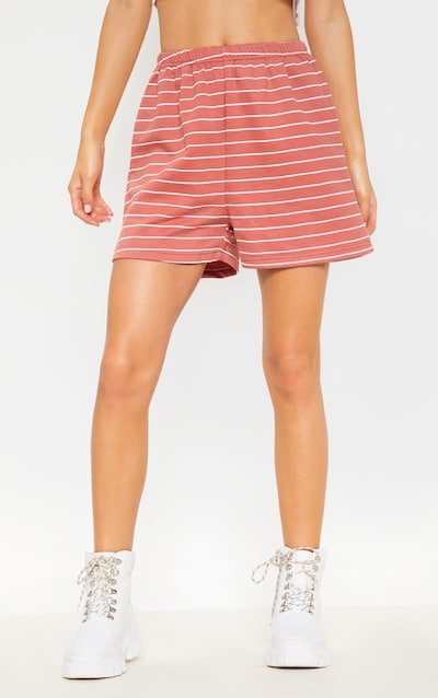 Terracotta Sweat Stripe Short