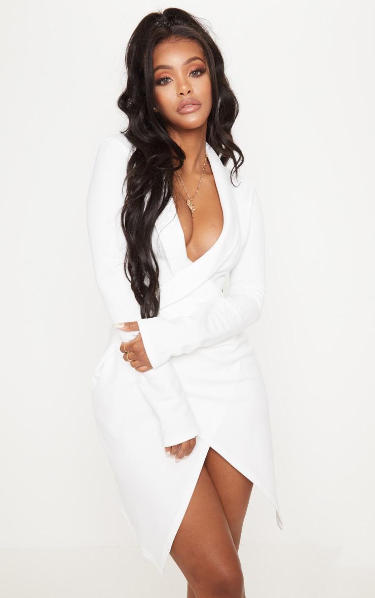 Shape White Blazer Dress 1