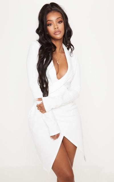 Shape White Blazer Dress
