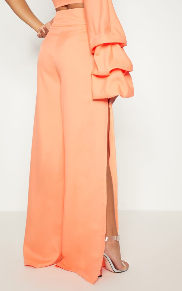 Petite Coral Wide Leg Trousers 4