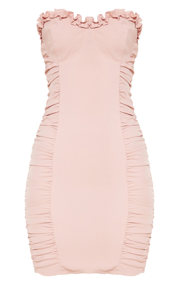 Rose Ruched Bodycon Dress 3