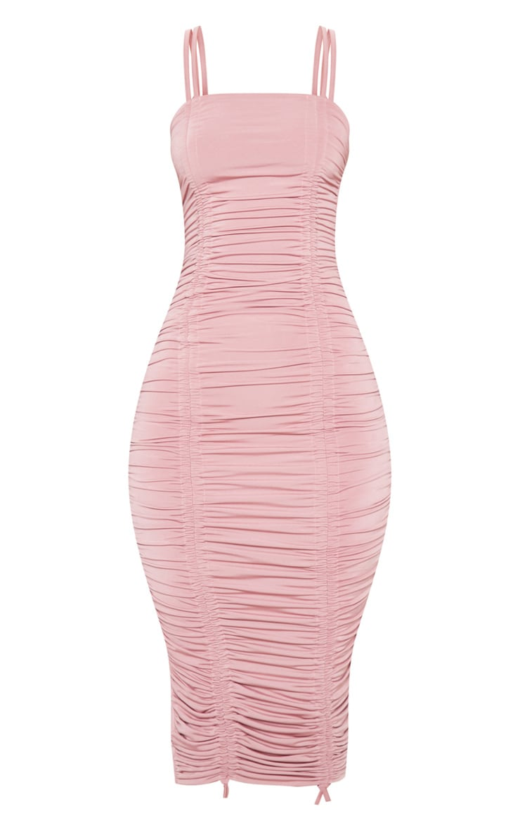 Rose Slinky Ruched Midaxi Dress 3