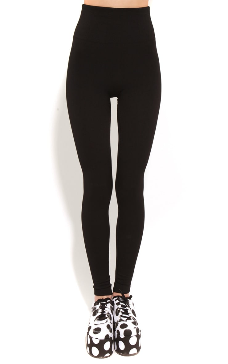 Ruby Black Jersey Leggings 3