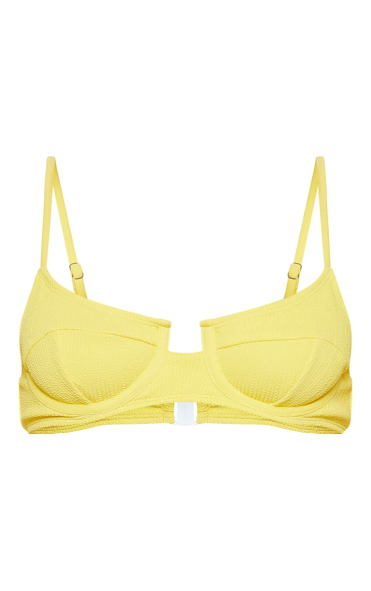Yellow Underwired Crinkle Bikini Top 6