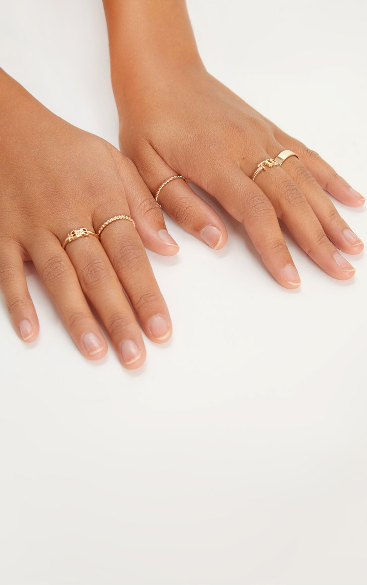 Gold Baby Doll Ring Set 2