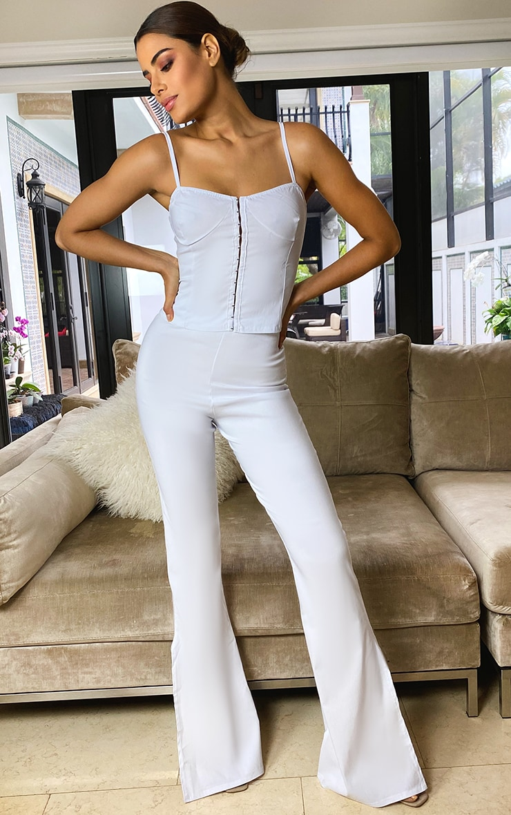 Tall Cream Corset Detail Strappy Top 2