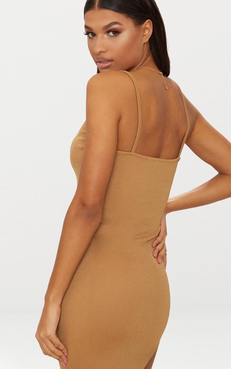 Black & Camel 2 Pack Curved Hem Bodycon Dress 3