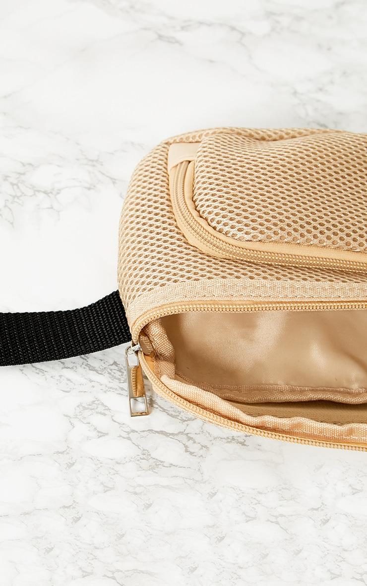 PRETTYLITTLETHING Cream Mesh Bum Bag 5