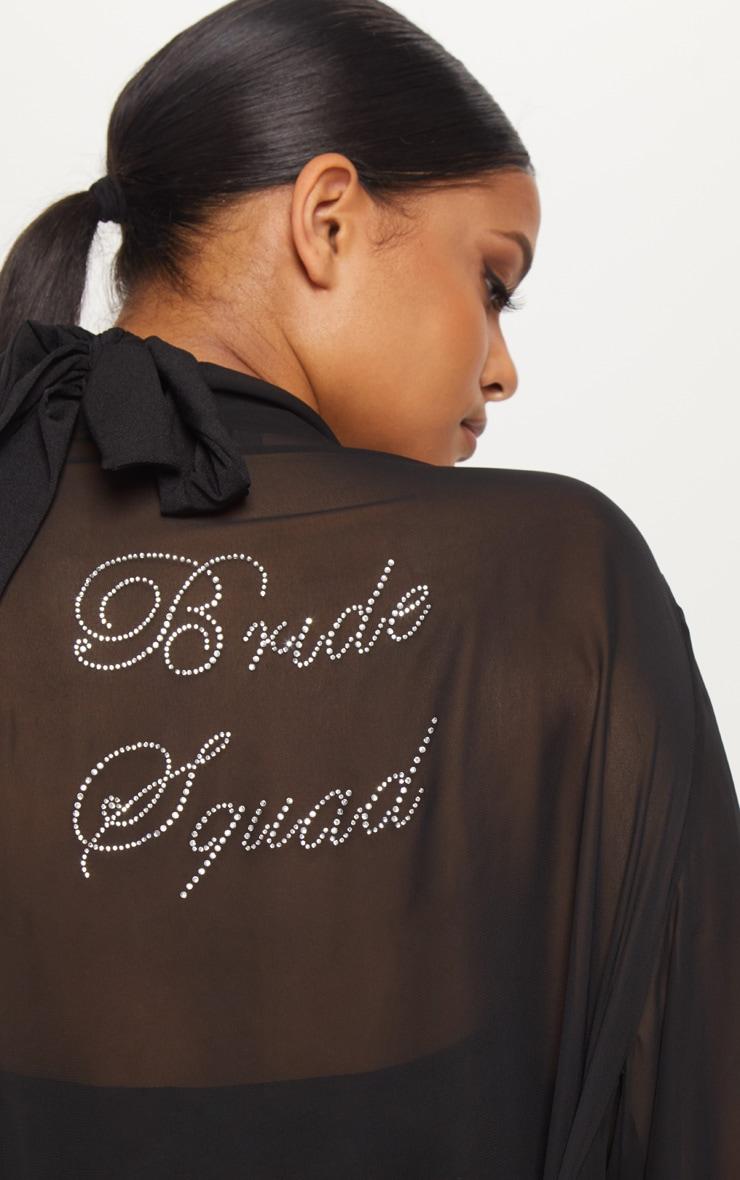Plus Bride Squad Black Diamante Chiffon Kimono 5