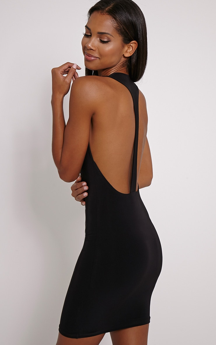 Sammia Black Racer Back Mini Dress 1