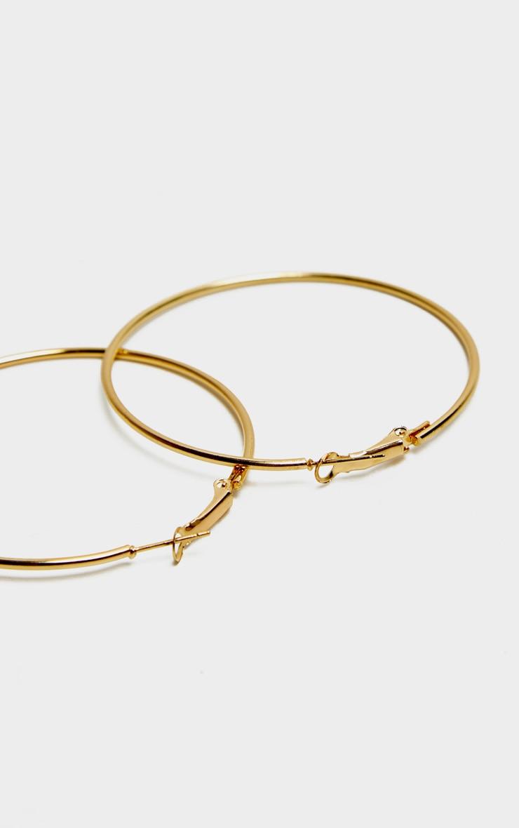 Gold Large Tubular Earrings 3