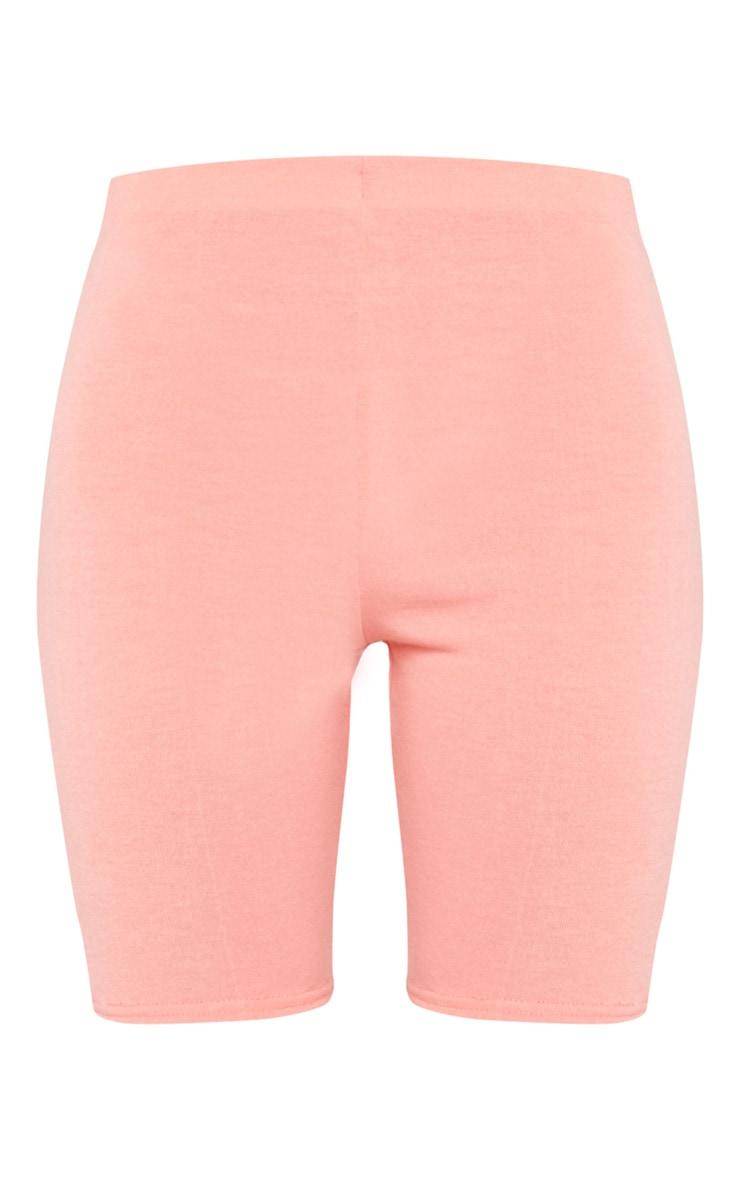 Coral Soft Cotton High Waist Bike Shorts 6
