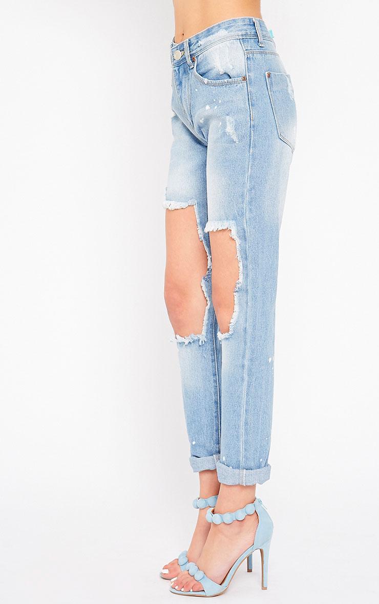 Karen Blue Hole Front Jeans 3