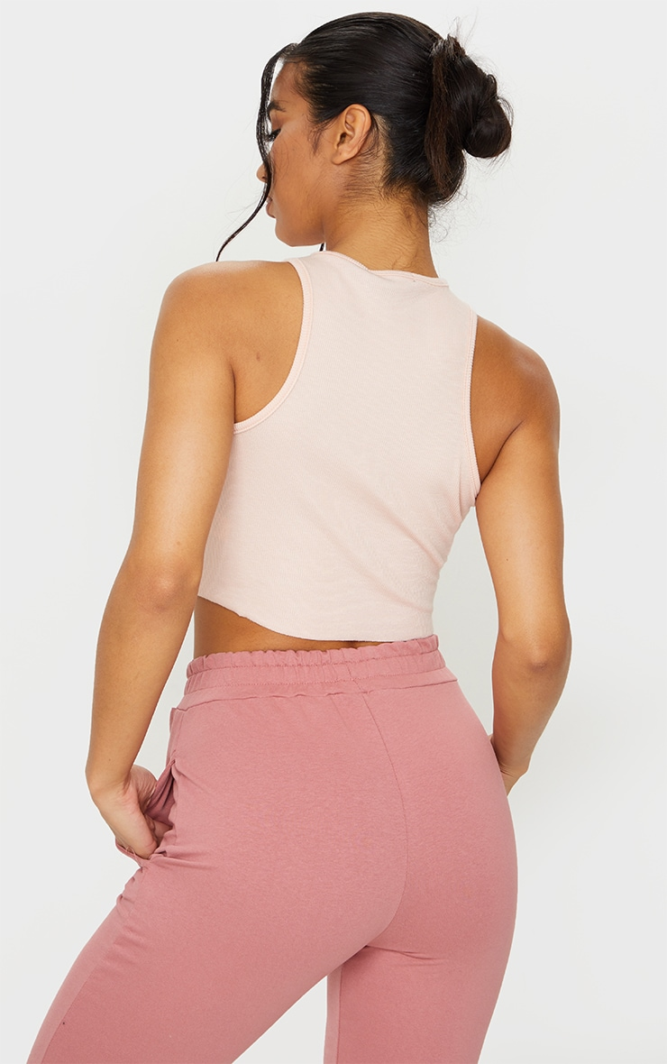 Basic Nude  Soft Rib Cropped Vest 2