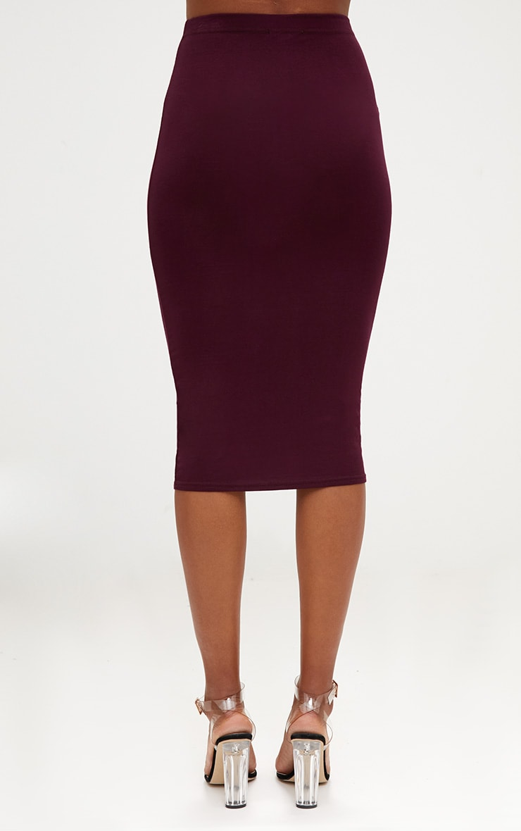 Plum/Charcoal 2 Pack Jersey Midi Skirt 6