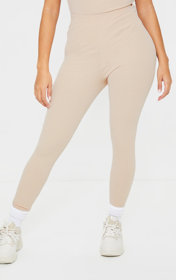 Shape Stone Textured Rib Ruched Bum Leggings 2