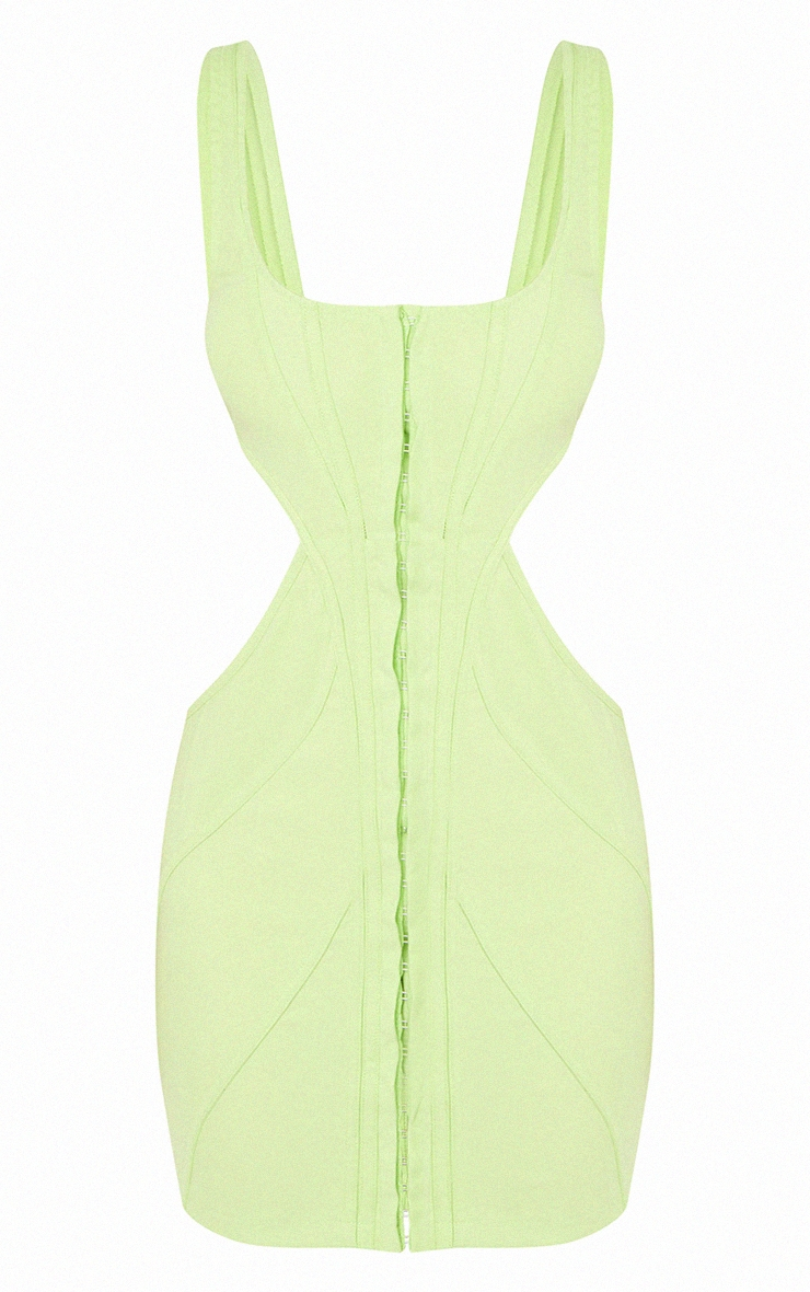 Lime Corset Cut Out Bodycon Dress 6