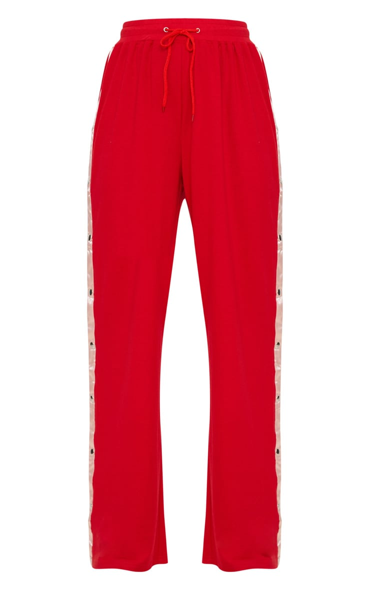 Red Contrast Popper Joggers 3